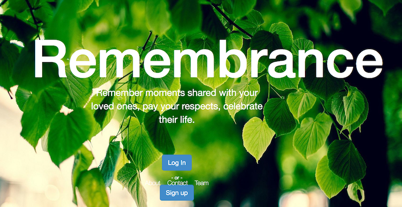 Remembrance Homepage